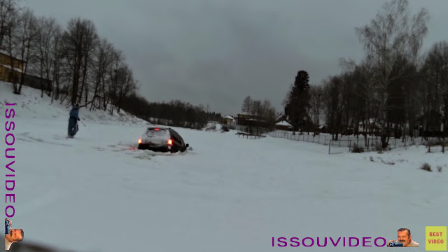 Drift on ice lake gone wrong issouvideo