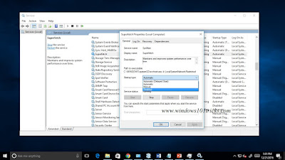 Disable Superfetch on windows 10