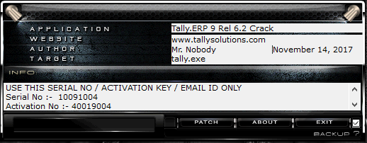 tally erp 9 6.0 crack patch free download