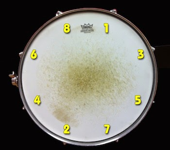 Criss-cross drum tuning image