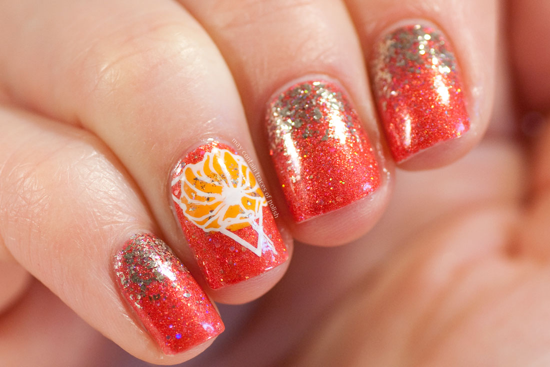 Nail Art MoYou Flower Power 21 Glam Polish I Really Do Love that Hat