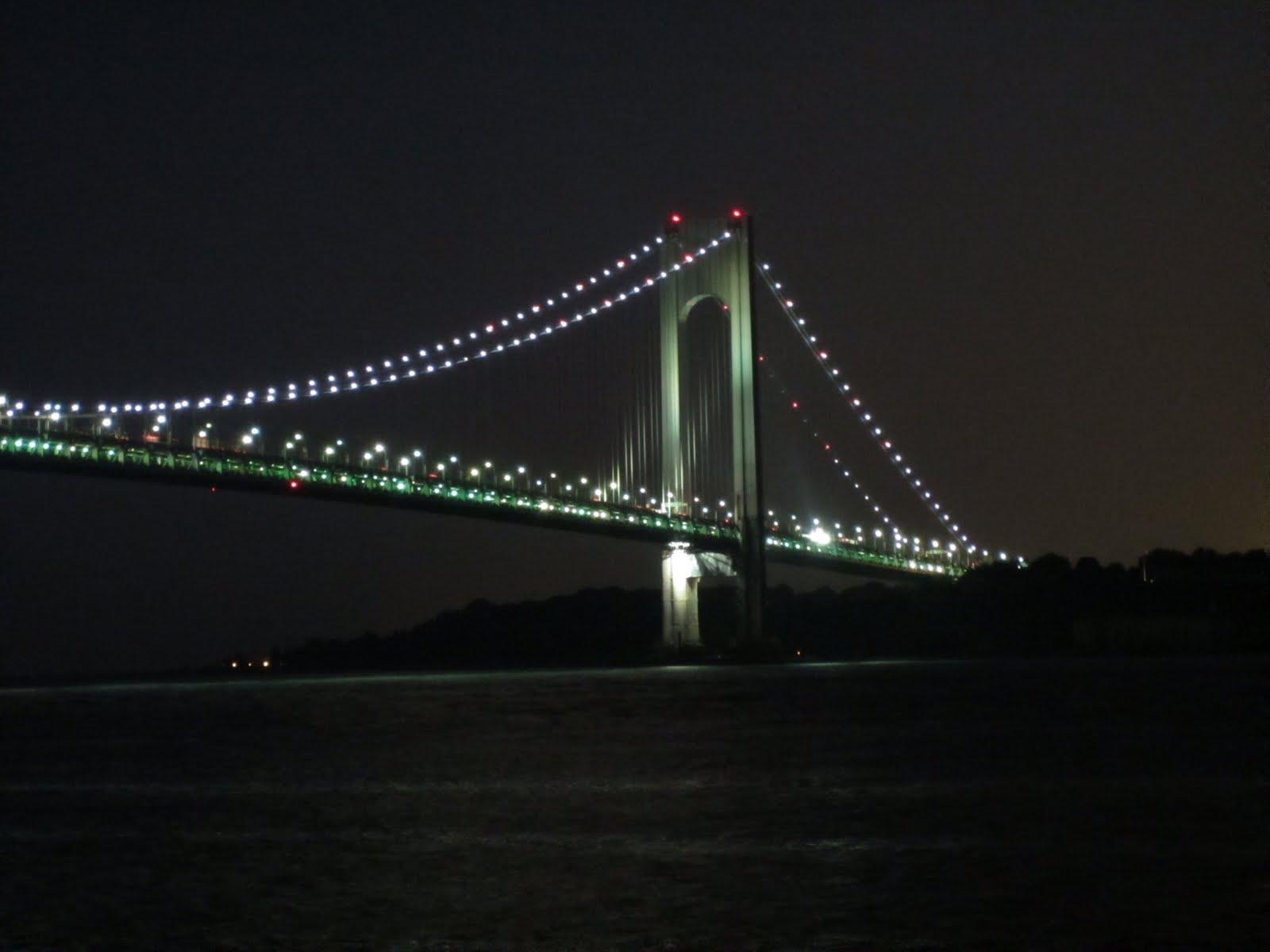 Pay a Visit: The Verrazano-Narrows Bridge at Night