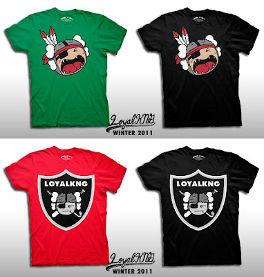"Loyal K.N.G. Winter 2011 T-Shirt Collection - ""Atamahawk"" & ""Toon Raider"" T-Shirts"