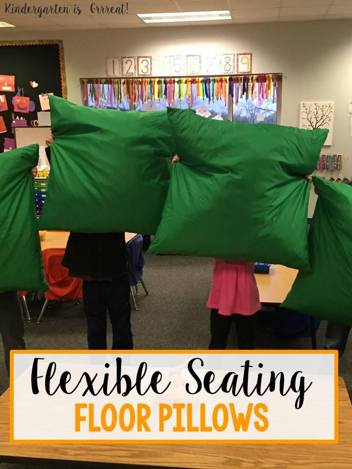 kids reading chair diy outdoor covers kindergarten is grrreat!: flexible seating in - floor pillows!