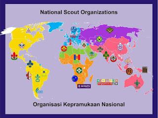 Daftar Organisasi Pramuka di Seluruh Dunia