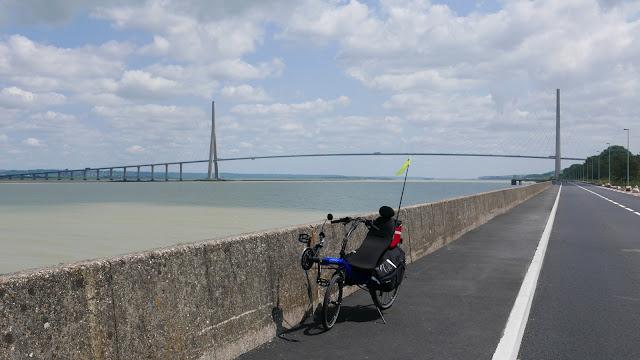 Randonnée à vélo : Le pont de Normandie