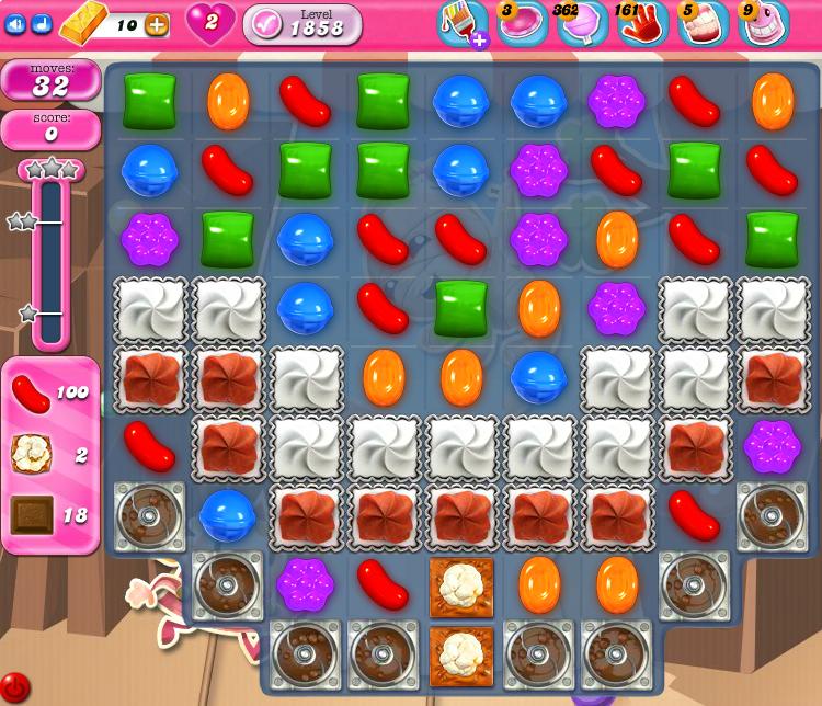 Candy Crush Saga 1858