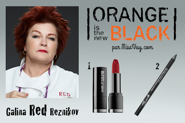 Inspiration maquillage : Orange is the New Black Red