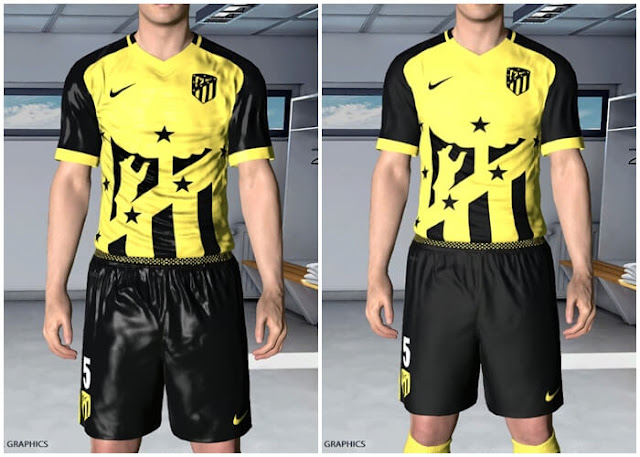Atletico Madrid 17/18 Away Kit PES 2017