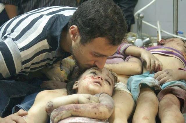 Ratusan Warga Sipil, Terbanyak Anak-anak, Jadi Korban Serangan Biadab Gas Beracun Rezim Asad