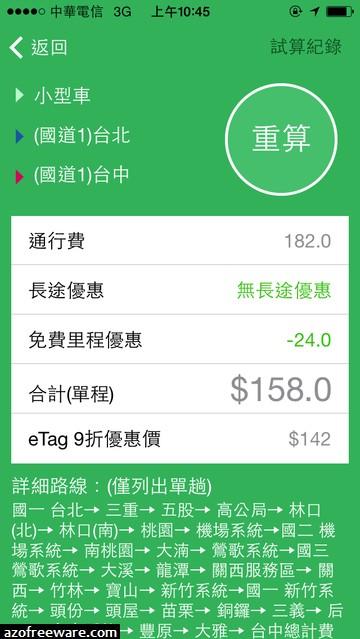 國道計程收費 (離線試算) 2014.02.09 - 計算高速公路過路費的好幫手 [Android/iOS] - 免費軟體下載