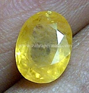 Batu Permata Yellow Safir - ZP 589