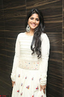 Megha Akash in beautiful White Anarkali Dress at Pre release function of Movie LIE ~ Celebrities Galleries 069.JPG