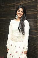 Megha Akash in beautiful White Anarkali Dress at Pre release function of Movie LIE ~ Celebrities Galleries 069.JPG