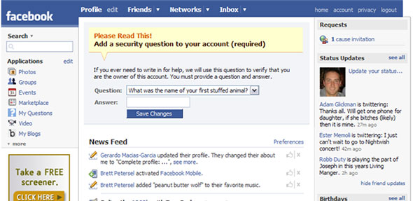 Facebook Old Design
