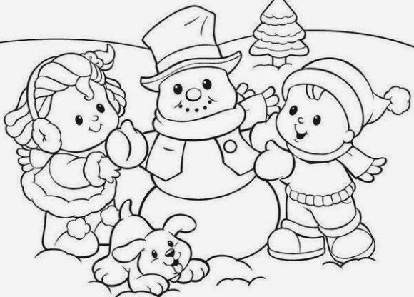 Coloring Pages Winter Coloring Pages And Clip Art Free Winter Coloring Pages