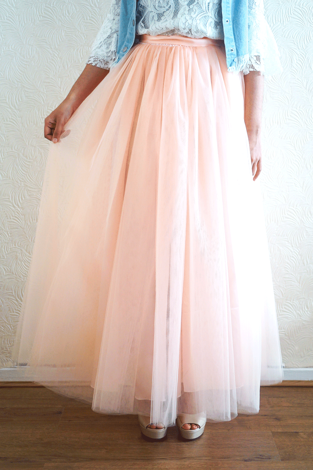 Just Peachy Tulle Skirt