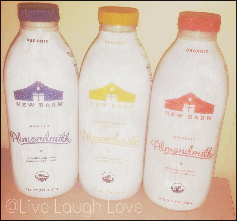 I Received A Few Free Coupons To Purchase Some Products From New Barn Went Ahead And Selected These Three Almondmilk In Bottle