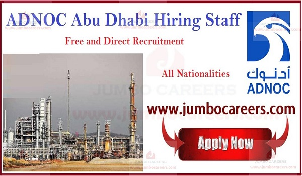 ADNOC Careers Abu Dhabi National Oil Company Jobs April 2019