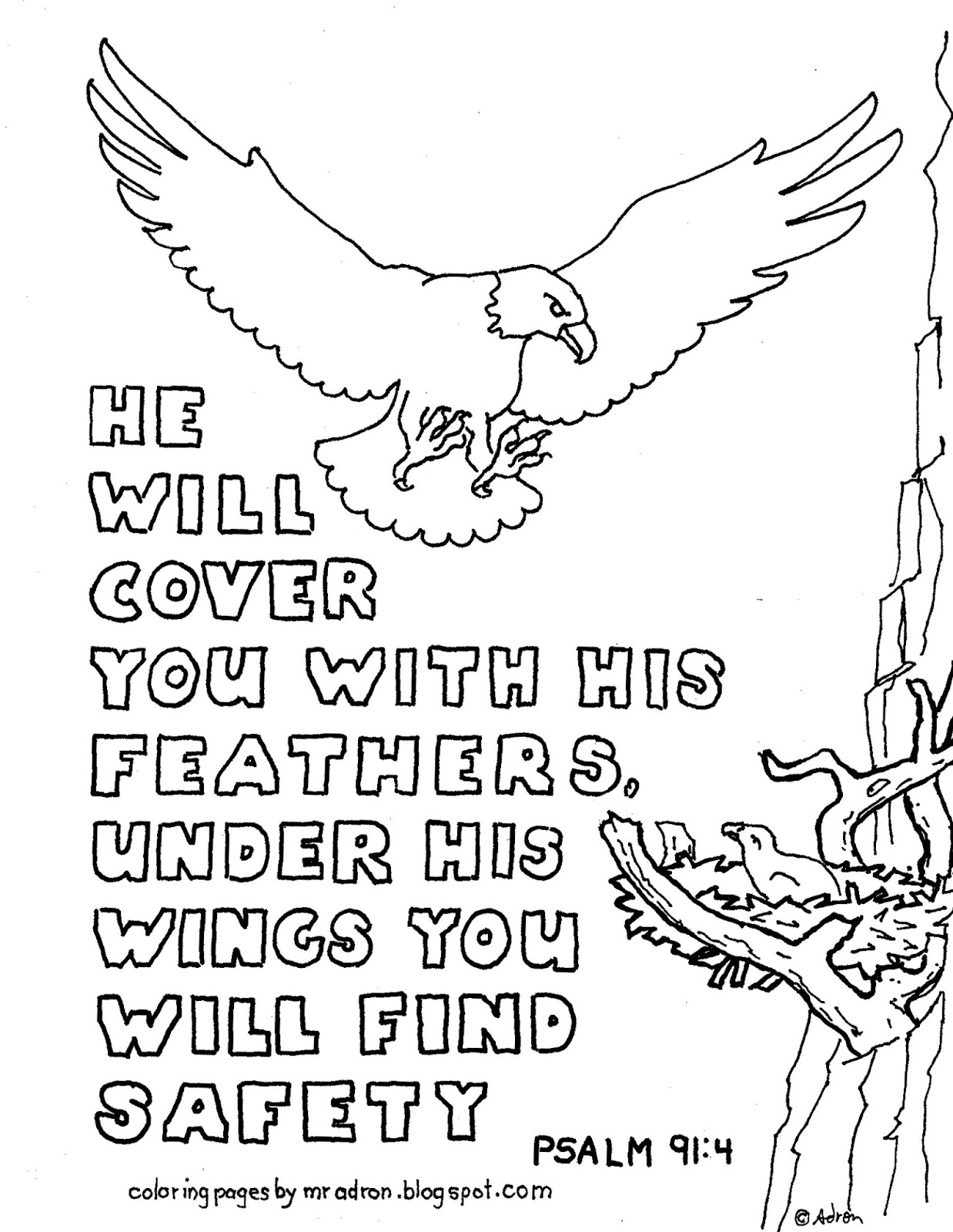 Psalm Adult Coloring Page Coloring Pages For Kids By Mr Adron