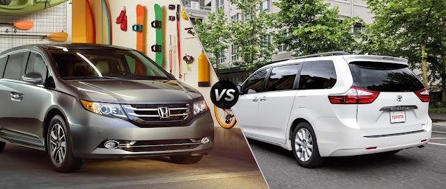 Toyota Sienna và Honda Odyssey