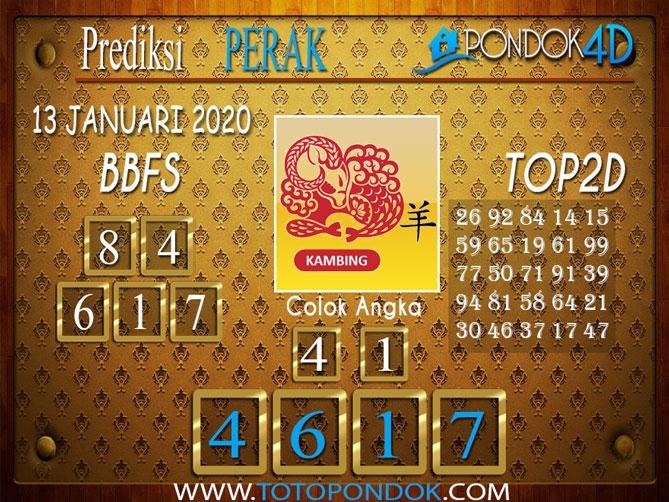 Prediksi Togel PERAK PONDOK4D 13 JANUARI 2020