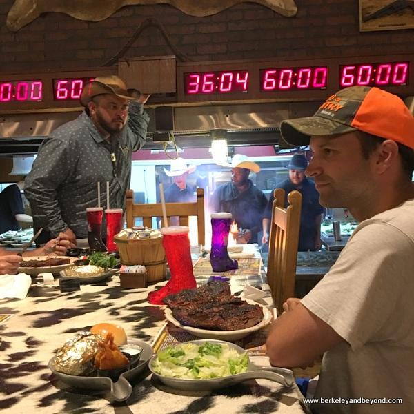 the 72-ounce Steak Challenge at Big Texan Steak Ranch in Amarillo, Texas