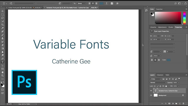 Adobe-Photoshop-variable-fonts-tipografía-personalizable