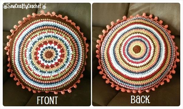 Round Crochet Pillow Bolster Pillow Sew Crafty Crochet
