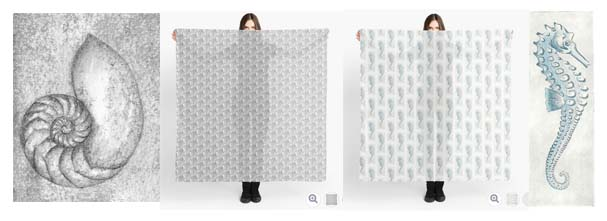 Scarves available at redbubble by lisa le quelenec