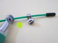 Schraube: Speed-Rope »Rapido« / High-Speed Springseil / 360° Kugelgelenk mit verstellbarem Drahtseil / in vielen Farben erhältlich