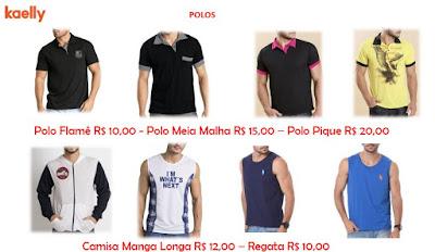 roupas masculinas para lojas de preço único de até 30 e 40 reais