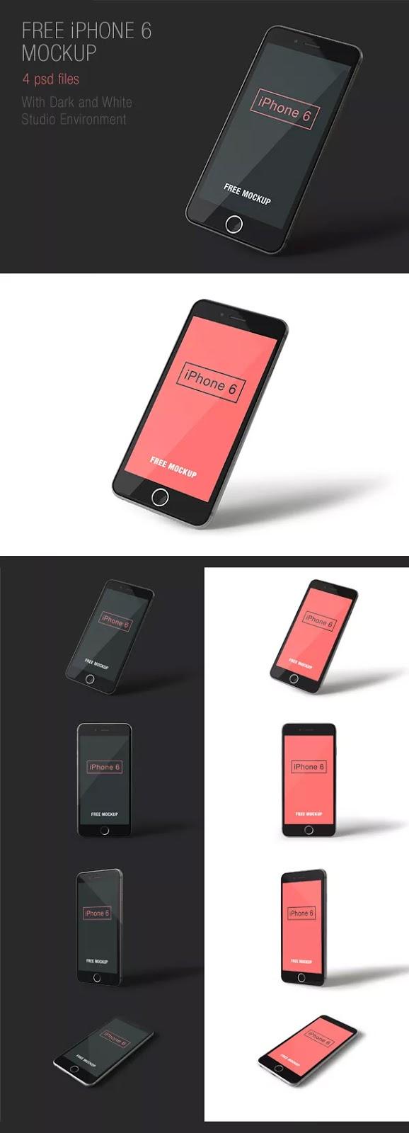 Smartphone & Tablet Mockup PSD Terbaru Gratis - iPhone 6 PSD Mockups