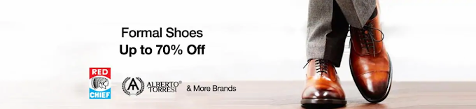 70% OFF on Formal Shoes | Paytm mall promo code