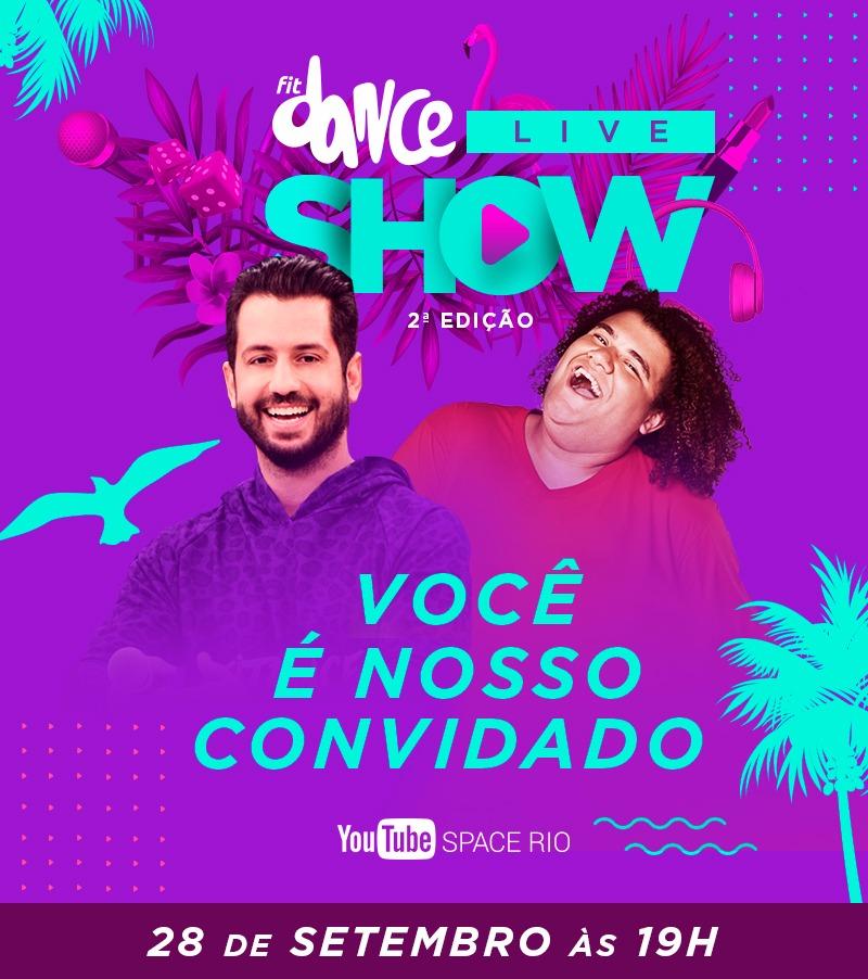 d5a10637a6e53 Após o grande sucesso da estreia do  FitDance Live Show , a maior empresa  de dança do Brasil anuncia a segunda edição do programa virtual.