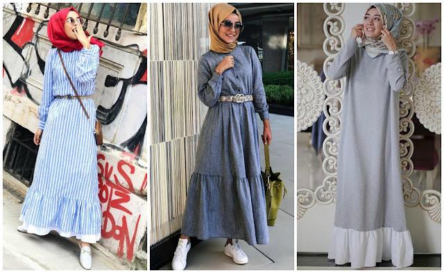 Buat Kalian Hijabers Yang Bertubuh Kurus, Ini Lho Inspirasi Dress Rumbai Yang Patut Dicoba