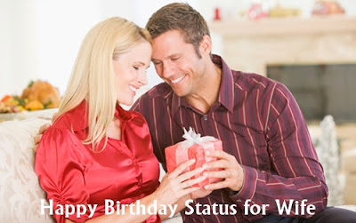 Happy Birthday Status for Wife Quotes in English