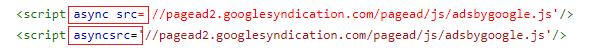 Google Adsense error kode