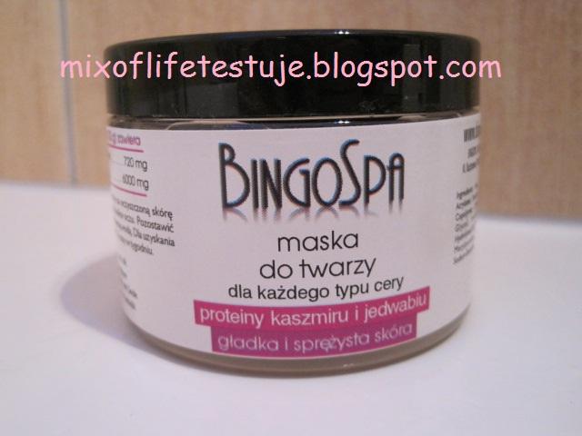 BingoSpa maska do twarzy proteiny kaszmiru i jedwabiu