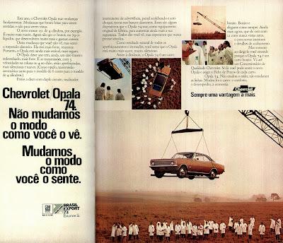 propaganda Chevrolet Opala 74 - 1973