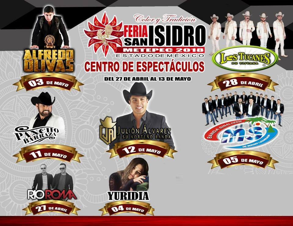 Boletos Palenque Feria San Isidro Metepec Cartelera de Conciertos