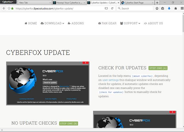 تحميل متصفح مواقع الويب سيبر فوكس Cyberfox 52 مجانا للويندوز
