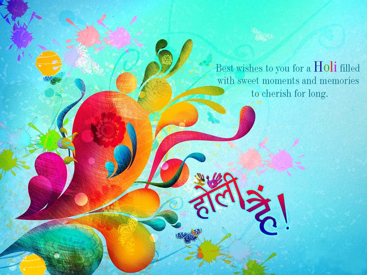 Best wishes to you for a Holi festival Full HD