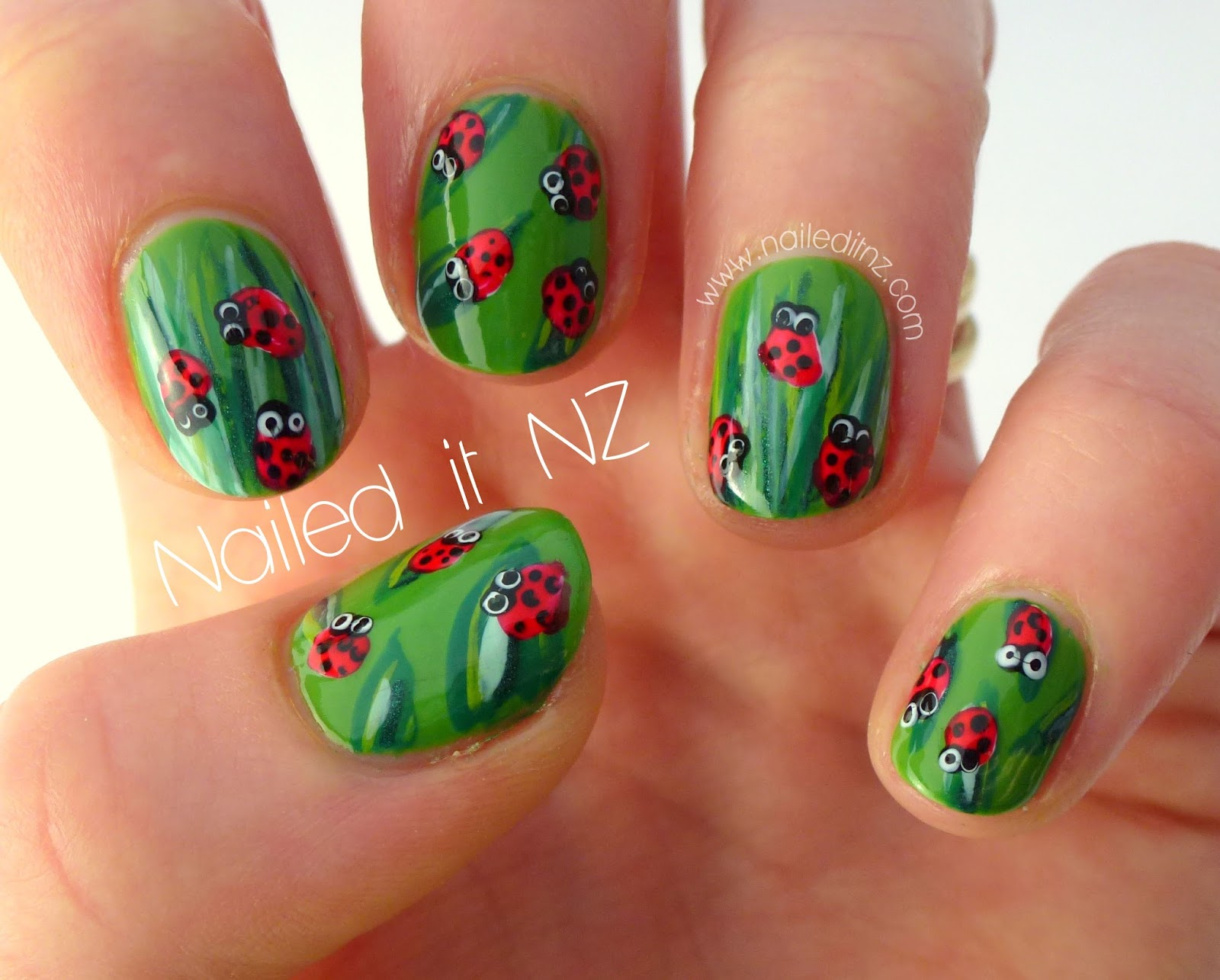 Ladybird nail art tutorial!