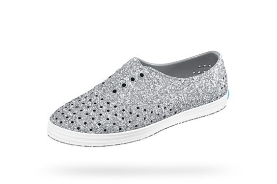 Native Shoes Sparkly Silver Sneaker