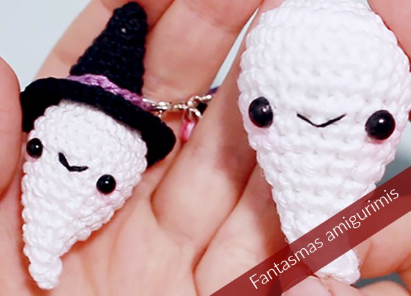 Fantasmas halloween amigurimis crochet