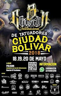 POSTER 1 3RA Convencion de Tatuadores Ciudad Bolívar 2018