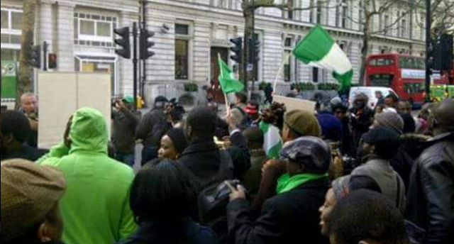 Nigerians in London Join Protest, Demand to See Buhari
