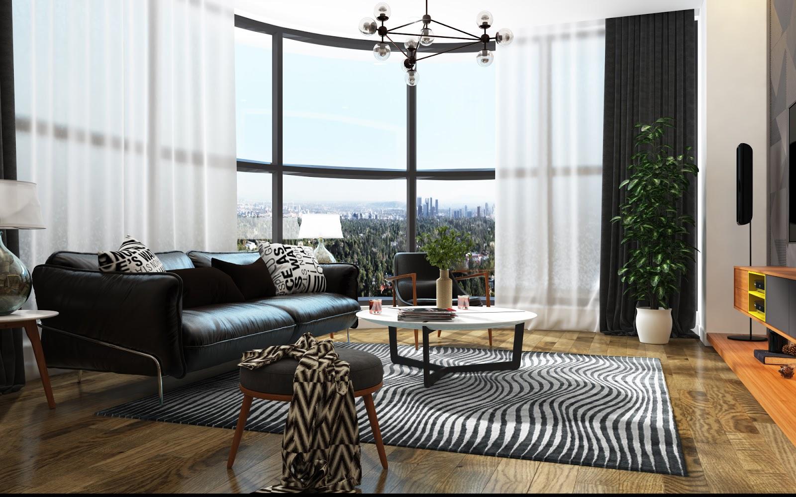 Phòng khách sang trọng tại chung cư The Golden Palm