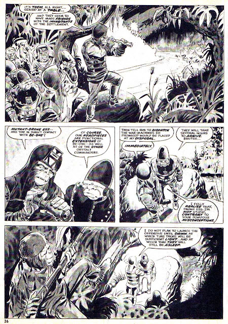Planet of the Apes v1 #4 curtis magazine page art by Mike Ploog